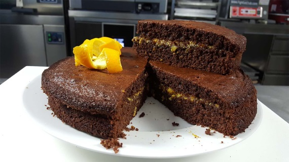 preview della video ricetta: Torta al cioccolato, arance e zenzero